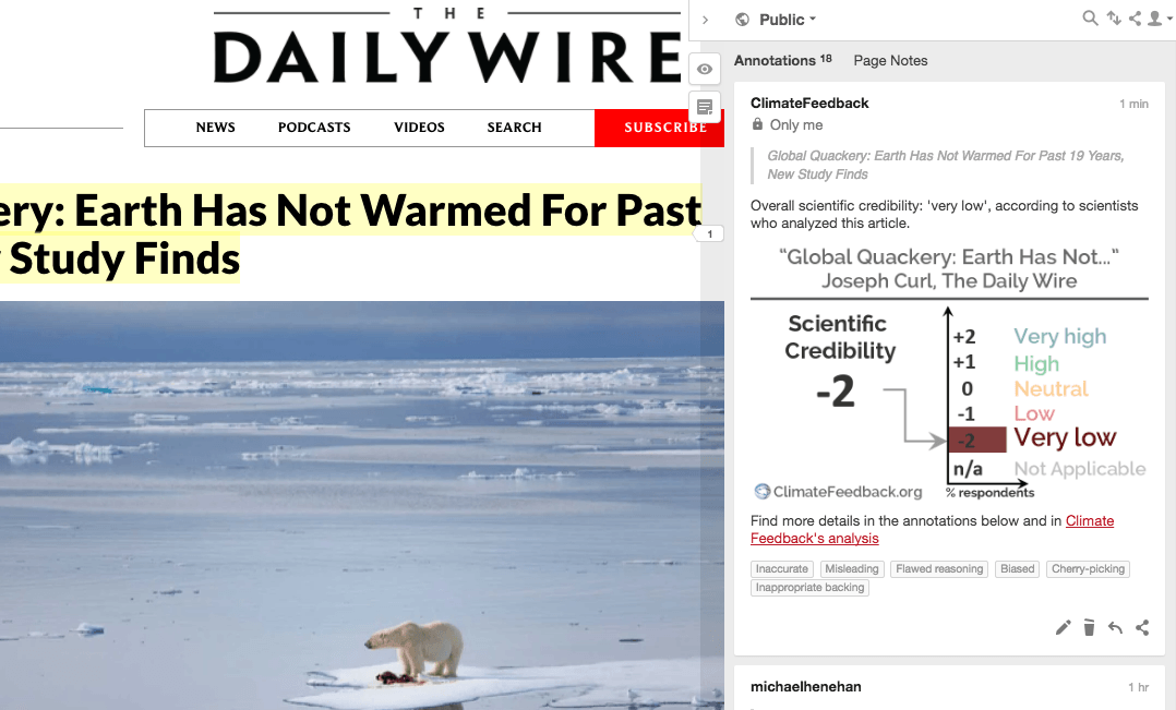 The Daily Wire makes wild claims about climate change ... Daily Wire