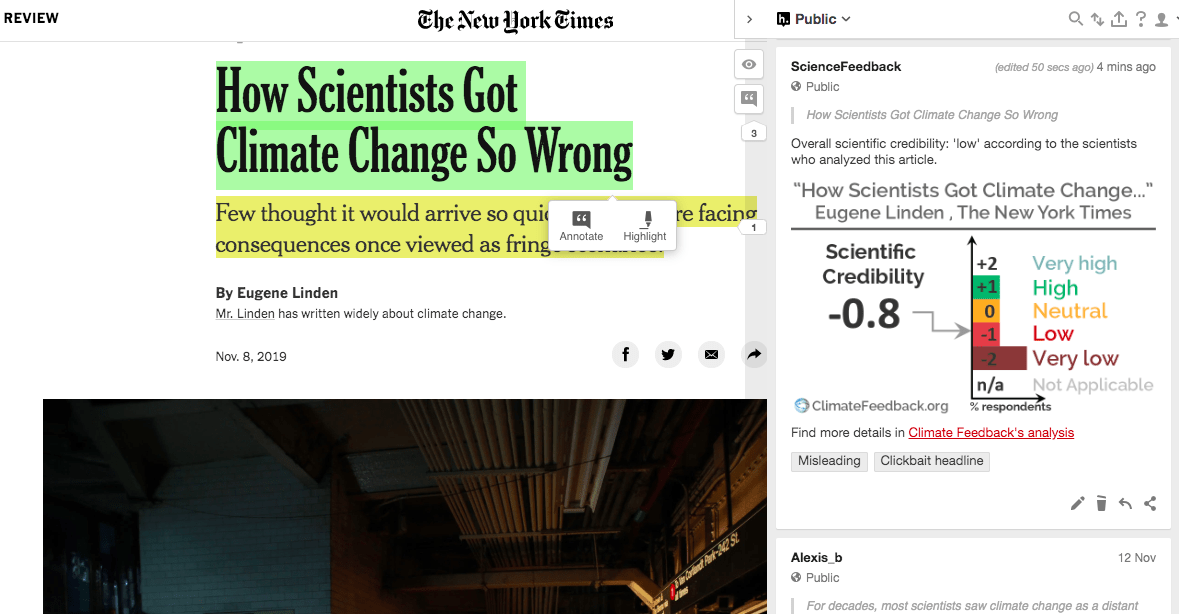 NYT op-ed claiming scientists underestimated climate change lacks evidence
