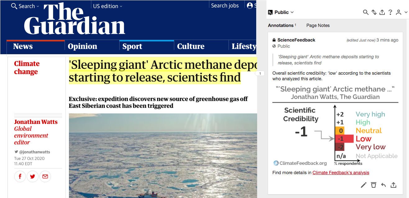 Guardian article on Arctic methane emissions lacks important context