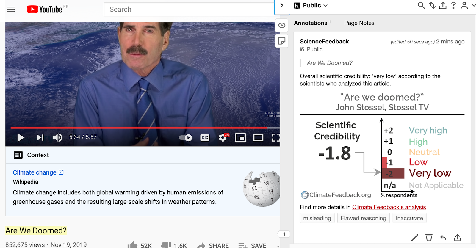 Video promoted by John Stossel for Earth Day relies on incorrect and misleading claims about climate change